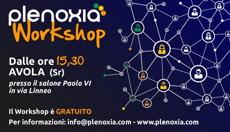 Workshop Plenoxia - Domenica 22 Marzo dalle 15,30 ad Avola (Sr)
