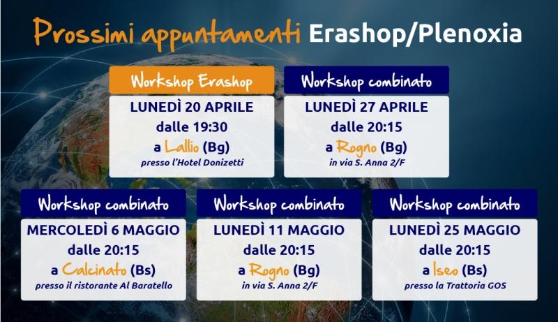 Workshop prossimi appuntamenti - Aprile e Maggio 2015