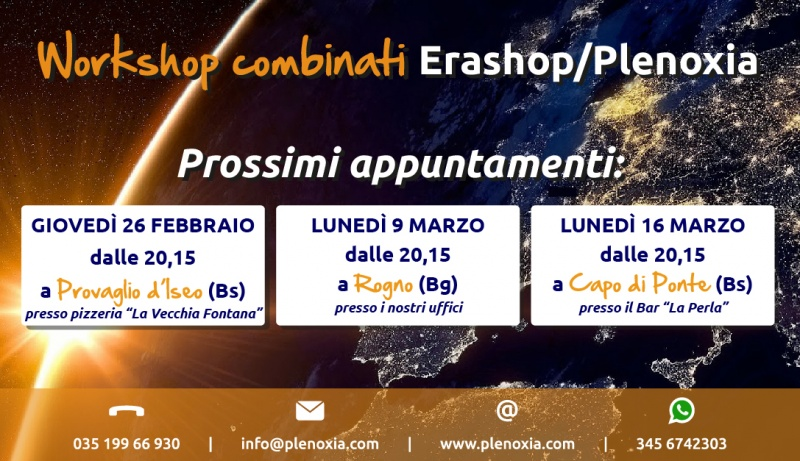 WorkShop combinati - Prossimi appuntamenti